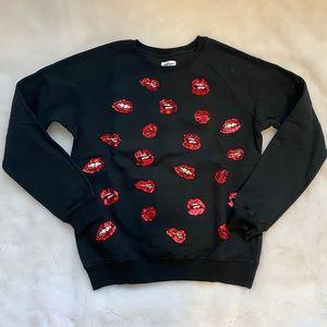Au Jour Le Jour Black Crewneck Sweatshirt - size 8